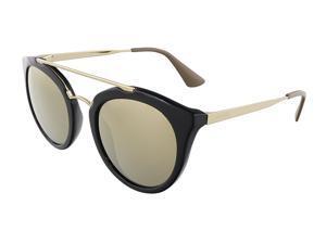 1ea4e15ee64 Prada PR 23SS 1AB1C0 CINEMA Black Round Sunglasses