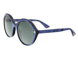dbbd38f6db6fe Gucci GG0023S 004 Blue Round Sunglasses