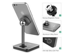 Magnetic Desk Phone Mount Tabletop Stand Cell Phone Holder for iPhone X, iPhone 8, Google Pixel, Samsung, Nokia, LG Smartphone (Gray) 40358