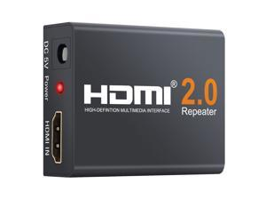2160P 3D 4K HDMI Signal Repeater Extender Booster Adapter Over Signal HDTV 60 Meters Lossless Transmission,HDMI Repeater 60M 4K 2160P 3D HDMI 2.0 Extender Booster Adapter Mini Size Metal Shell