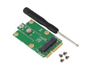 New Version M.2 NGFF / Key E Card to mPCIe (PCIe+USB) Adapter For Laptop Desktop mPCIe slot