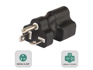 6-20P TO 6-15R & 6-20R, Nema 6-20P Male to Nema 6-15/20R Comb Female AC Adapter, 20Amp 250V to 15A AC Power Adapte,6-20P TO 6-15R