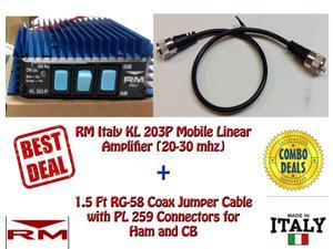RM KL 203P Mobile Linear Amplifier with 1.5 Ft Jumper Cable
