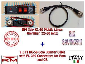 RM KL 60 Mobile Linear Amplifier with 1.5 FT Coax Jumper