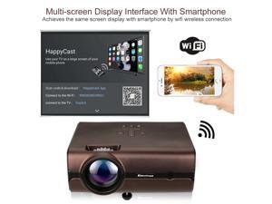 4K WiFi 1080P FHD LED Android 6.0 Smart Home Theater Projector Wireless 4000LM