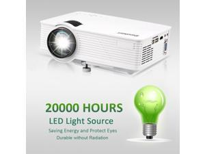 7000 Lumens LED 3D Projector 1080P HD Home Cinema HDMI/USB/AV/VGA Multimedia US
