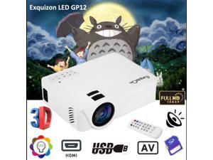 7000 Lumens Mini LED LCD Projector 3D HD 1080P Home Theater Movie USB VGA HDMI