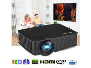LED 7000Lumens 1080P HD Multimedia Projector 3D Home Theater Cinema HDMI USB New