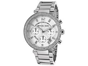 c52aee417e1 Michael Kors MK5353 Womens Stainless Steel Case and Bracelet Chronograph  Silver Tone Dial Watch