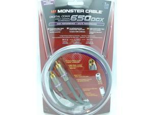 Monster Cable 650DCX High Performance Digital Coax Cable - 1M (3.3 Ft)