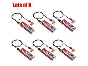 6X USB 3.0 1x to 16x Extender Riser Card Adapter SATA Power Cable PCI-E Express