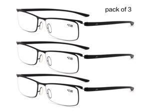 d81e16cfe9c 3 Pairs Pack Mens Metal No Spot Welding Glasse Reading Glasses ...