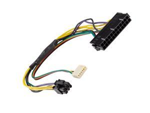 "12"" ATX Main 24-Pin to 6-Pin PSU Power Adapter Cable 18AWG for HP Z220/Z230"