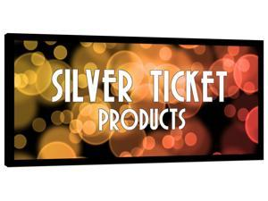 "STR-235115 Silver Ticket 115"" Diagonal 2.35:1 Cinema Format (6 Piece Fixed Frame) Projector Screen White Material"