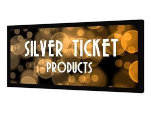 "STR-235115-S Silver Ticket 115"" Diagonal 2.35:1 Cinema Format (6 Piece Fixed Frame) Projector Screen Ambient Light Rejecting Silver-Grey Material for 2D and 3D"