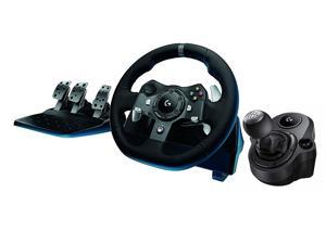 a452bc80c9c Logitech Driving Force G920 Racing Wheel, Force Feedback Steering Wheel + G  Driving Force Shifter