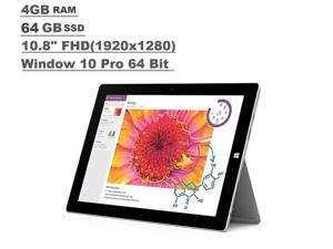 Microsoft Surface 3 Tablet 4GB RAM 64GB 10.8-inch FHD Intel Atom x7-Z8700, Win10 Pro Silver LC5-00015