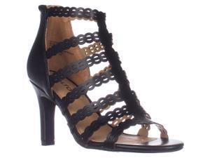 d0fbf230fe78e4 Rialto Roma Strappy Zip Heel Sandals