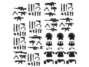 Custom Minifigures SWAT Armor Weapons Set Compatible w/ Lego Sets Army Minifigs