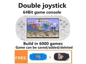 Double joystick 4.3 Inch 40GB  handheld game console build in 6000 no-repeat games video game console support arcade CPS/NEOGEO/FC/NES/SFC/SNES/GB/GBC/GBA/SMC/SMD/SEGA Games MP3 MP5 Player
