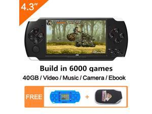 JXD 4.3 inch Handheld Game Console 40GB With Mp4 Mp5 Function Video Game Built In 6000 real no-repeat for GBA/GBC/SFC/FC/SMD game device kid gift
