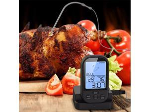 Digital Meat BBQ Thermometer Wireless Kitchen Oven Food Cooking BBQ Grill Smoker Thermometer with Probe Timer Temperature