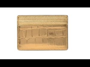 15934036b01bf Michael Kors Jet Set Travel Metallic Embossed-Leather - Card Case ...