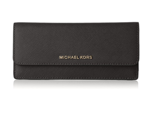 78a198eb25ce2 Michael Kors Jet Set Travel Wallet in Black 32F3GTVE7L-001