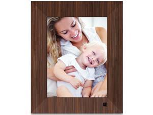 NIX Lux 8 inch Hi-Res Digital Photo & HD Video Frame with Motion Sensor - Wood (X08F) - Free 8 GB USB Included