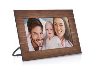 NIX Lux 13.3 inch Hi-Res Digital Photo & HD Video Frame with Motion Sensor - Wood (X13B) - Free 8GB USB Stick