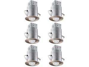 """9W 4 PACK 6"""" LED Recessed Downlight with Junction Box 80W Equivalent"""
