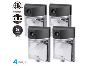 LEONLITE 4 Pack Outdoor Mini Wall Light with Photocell, 26W (200W Equiv.), 5000K Daylight