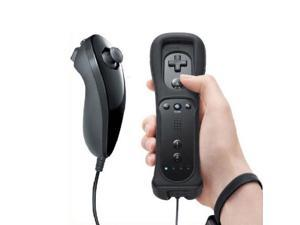 Wireless Remote + Silicone Case + Nunchuck Controller Set for Nintendo Wii - Black (Althemax)