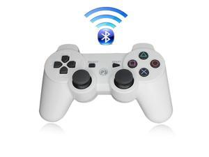 Premium Wireless Bluetooth Double Vibration Controller Remote Game  Console For Sony PS3 - White (Althemax)