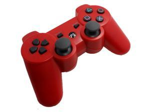 Premium Wireless Bluetooth Double Vibration Controller Remote Game  Console For Sony PS3 - Red (Althemax)