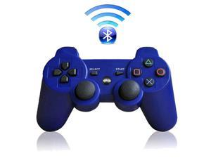 Premium Wireless Bluetooth Double Vibration Controller Remote Game  Console For Sony PS3 - Blue (Althemax)