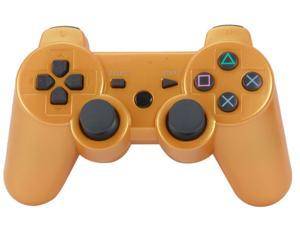 Premium Wireless Bluetooth Double Vibration Controller Remote Game  Console For Sony PS3 - Gold (Althemax)