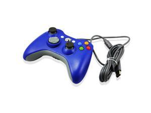 Wired USB Game Pad Joysticks Controller Reomte For Microsoft xBox 360 - Blue (Althemax)