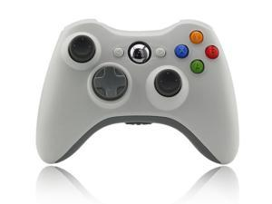 New Wireless Shock Gamepad Game Joypad Controller For Microsoft xBox 360 - White (Althemax)