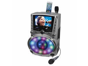 Karaoke USA - GF758 - KARAOKE USA GF758 DVD/CD+G/MP3+G Bluetooth(R) Karaoke System with 7 TFT Color Screen & LED Sync