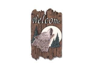 "''Wolf"" by Trendy Decor 4U Resin Sculpted Indoor/ Outdoor Plaques"