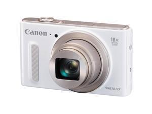 Canon - 0112C001 - Canon PowerShot SX610 HS 20.2 Megapixel Compact Camera - White - 3 LCD - 16:9 - 18x Optical Zoom - 4x
