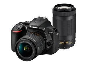 Nikon D5600 Wi-Fi Digital SLR Camera with 18-55mm VR & 70-300mm DX AF-P Lenses