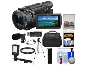 Sony Handycam FDR-AX53 Wi-Fi 4K Ultra HD Video Camera Camcorder with LED Light + Microphone + Case + Tripod + Kit