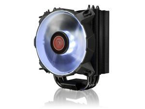 RAIJINTEK LETO W Slim CPU cooler with 12025 White LED PWM fan and black coating