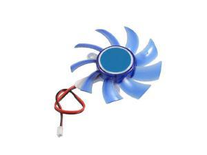 New 17g Blue Plastic PC VGA Display Video Card Heatsink Cooler Cooling Fan