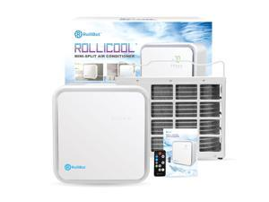 RolliCool 10,000 BTU Mini Split Air Conditioner: Access Cooling, Dehumidify, Auto & Fan Modes via App/Remote (450 sq ft)