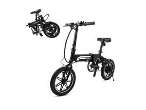 Swagtron SwagCycle EB Pro Lightweight and Aluminum Folding EBike with Pedals, Power Assist, and 36V Lithium Ion Battery&#59; Electric Bike with 14 inch Wheels and 250W Hub Motor