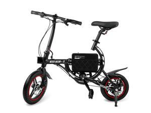 Swagtron SwagCycle EB Classic Lightweight Aluminum Folding eBike with High-Torque 250W Motor and Dual Disc Brakes&#59; Electric Bike with Pedal-Assist and Swappable Bike Seats