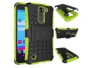 Mstechcorp Includes Accessories H Combo Heavy Duty Dual Layer Holster Case Kick Stand with Locking Belt Swivel Clip For LG K10 Phone LG K10 Case